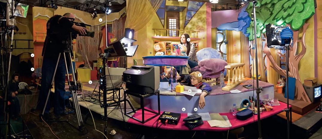 Как на самом деле выглядят студии некоторых телевизионных передач